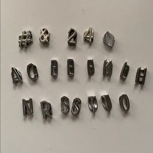 Keep collective silver letters (20 charms)